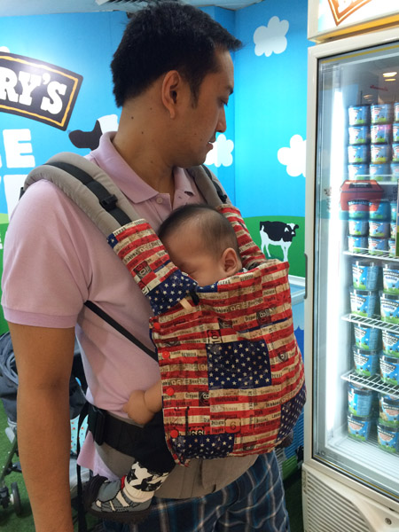 sleepy with daddy